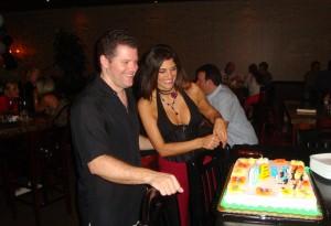 Daniel admiring his Birthday cake!